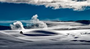 Gray Desert Under White and Blue Cloud Sunny Sky during Daytime Stock Photography