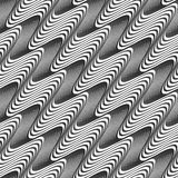 Gray diagonal wavy texture with gradient Royalty Free Stock Photography