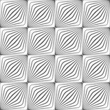 Gray diagonally striped squared forming grid Royalty Free Stock Image