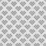 Gray diamond pattern with hearts. Seamless vector background Stock Photography