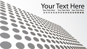 Gray Dots Business Card. Vector illustration of business card with gray dots background and space for text Stock Image