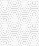 Gray dotted hexagons Royalty Free Stock Images