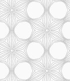 Gray dotted six pedal flower grid Royalty Free Stock Photo