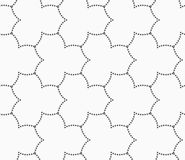 Gray dotted three pedal pointy flower grid Stock Photo