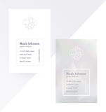 Gray double-sided business card with crystal logo Stock Photography