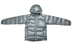 Gray down jacket Stock Images