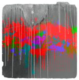 Gray dripping background with red splash. Retro design element. Royalty Free Stock Photography