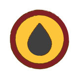 Gray drop of gasoline icon image Stock Image
