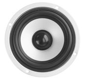Gray dynamic. Loudspeaker/the musical acoustic equipment Royalty Free Stock Photography