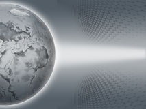 Gray Earth. Grey Earth on grey background Stock Images