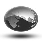 Gray Earth Africa To Asia Stock Photography