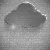 Gray eco glossy glass cloud icon  illustration Royalty Free Stock Photography