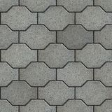 Gray with the Effect of Marble Wavy Paving Slabs. Royalty Free Stock Photos