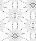 Gray eight pedal geometrical flower Stock Images
