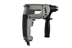 Gray electric drill Royalty Free Stock Image