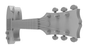 Gray electric guitar on white background. 3d rendering. Gray electric guitar on white background. 3d rendering Stock Photo