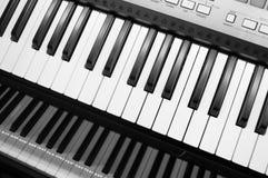 Gray Electric Keyboard Stock Photos