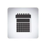 Gray emblem calendar icon Stock Photos