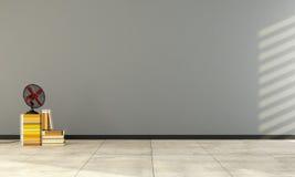 Gray empty interior Stock Photo