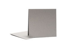Gray envelope and card Royalty Free Stock Photo