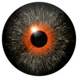 Gray eyeball 3d texture with orange round stock images