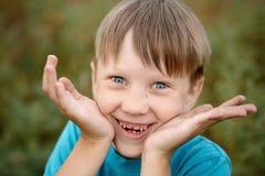 Gray-eyed boy Stock Image