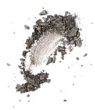 Gray eyeshadow swatch. Isolated over white background royalty free stock images