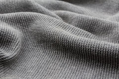 Gray fabric as the background Royalty Free Stock Photo