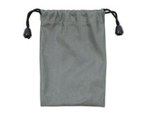 Gray fabric bag Royalty Free Stock Image