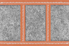 Gray fabric and brown leather background Royalty Free Stock Photos