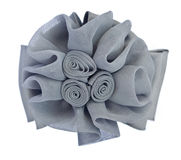 Gray fabric flower isolated on white. Background Stock Images