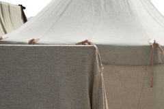 Gray fabric tents of the Roman military camp Stock Photography