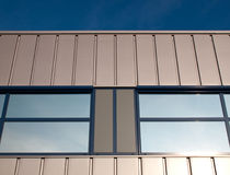 Gray facade. Of a building in the Netherlands Royalty Free Stock Image