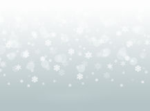 Gray falling snowflake abstract winter bokeh background royalty free illustration