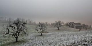 Gray farmland Stock Photos