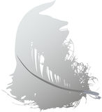 Gray feather illustration Royalty Free Stock Image