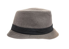 Gray Fedora isolated on a white background Royalty Free Stock Photo