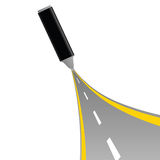 Gray felt pen with road vector Stock Photo