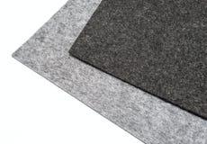 Gray felt pieces Stock Photos