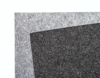 Gray felt pieces Royalty Free Stock Images