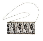Gray female clutch and chain Stock Images