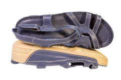 Gray female sandals Stock Photography