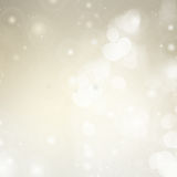 Gray Festive background. Gray bokeh christmas background with light beams Stock Photos