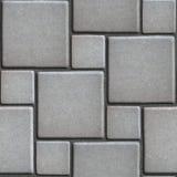 Gray Figured Pavement concreto de grande y de pequeño Imagen de archivo