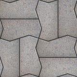 Gray Figured Pavement Slabs Imagen de archivo libre de regalías