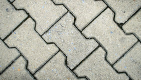 Gray Figured Paving Slabs Stock Images