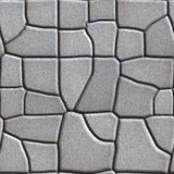 Gray Figured Paving Slabs de diverso valor que Imagenes de archivo