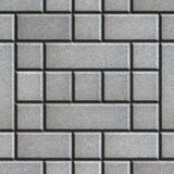 Gray Figured Paving Slabs som rektanglar och Arkivfoto