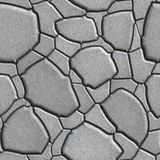 Gray Figured Paving Slabs which Imitates Natural Royalty Free Stock Photos