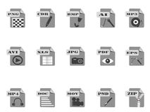Gray files icon Stock Photography